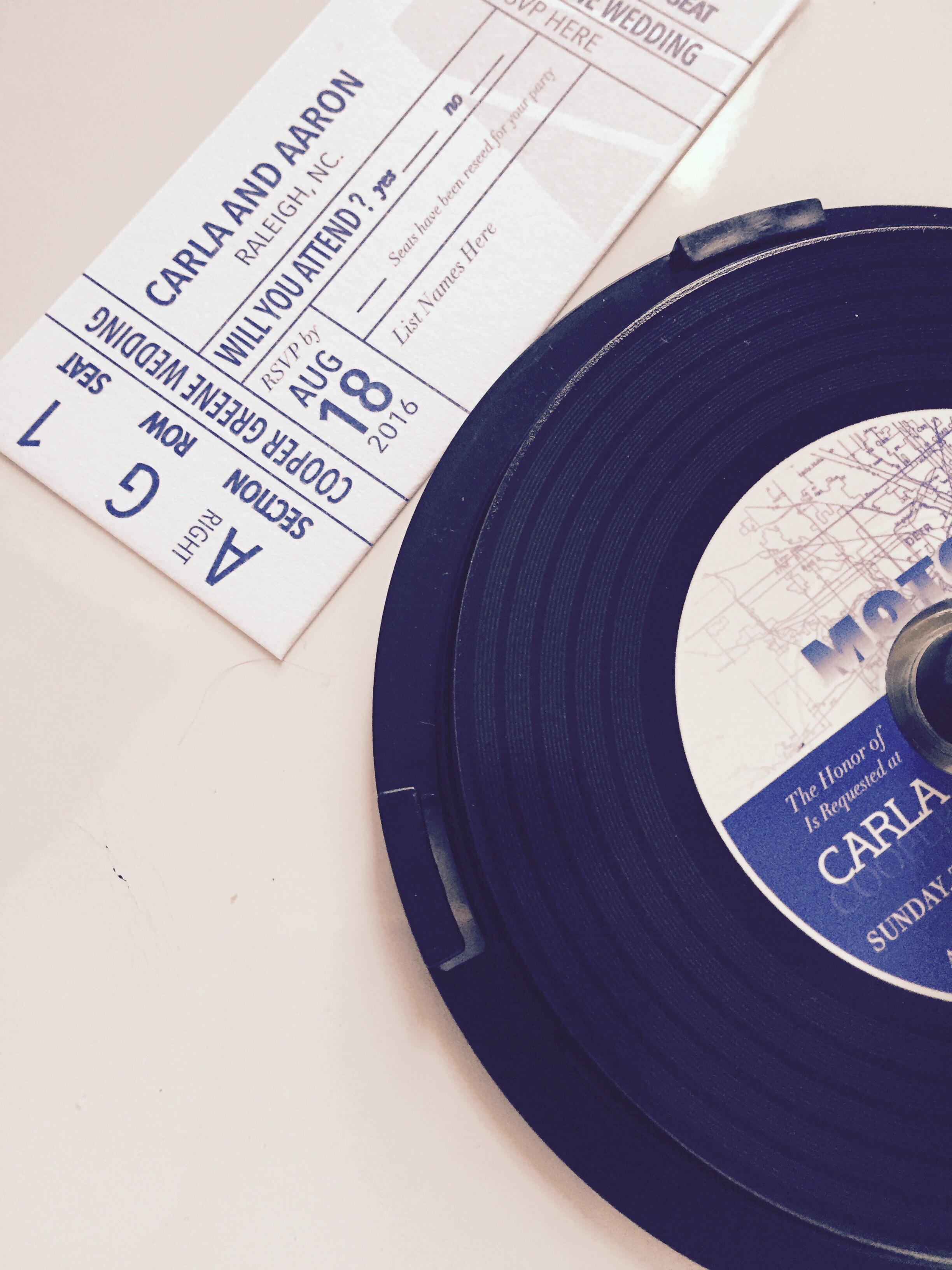 Custom CD Style Wedding Invitation | J\'Marie Design Studios